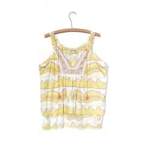 Free People Tiered Embroidered Tank Top